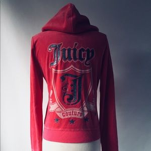 JUICY COUTURE Hot Pink Velour Hoodie